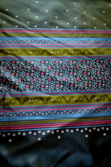 Fabric Panel for Border Print Dirndl Apron