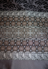 Fabric Panel for Dirndl Apron Black Grey & Taupe