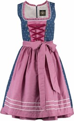 Dirndl Denim Blue with Fuchsia  Budget Friendly