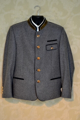 Allwerk Jacket Grey Wool with Blue Accent