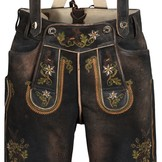 Lederhosen Karl Dark Brown Antiqued with Suspenders