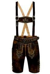 Lederhosen Shorts Michael Dark Brown