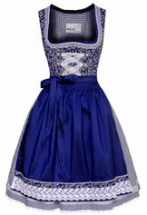 Dirndl Taduna Blue Knee Length