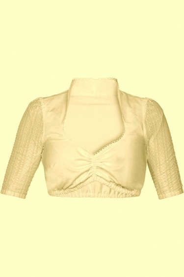 Dirndl Blouse Christina Cream Lace Sleeve
