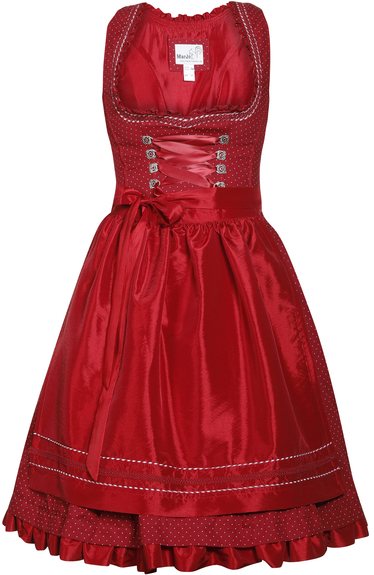 Dirndl Blonda Red Short Length