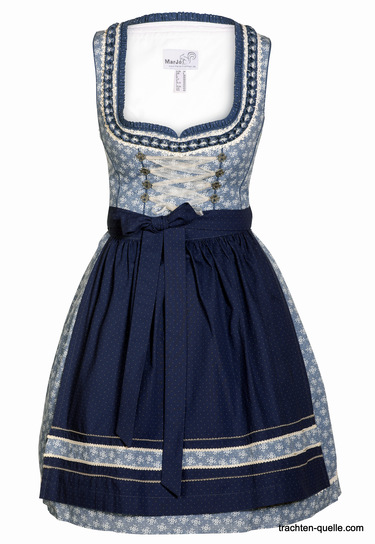 Dirndl Birgit Blue and White by Marjo