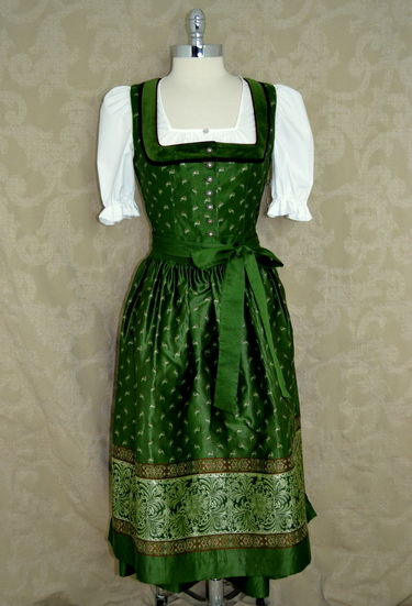 Formal Dirndl Elisabeth Green and Black Allwerk