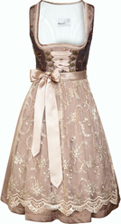 Dirndl Pepper Taupe with Lace Apron