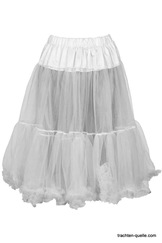 Soft Petticoat by Marjo White, Cream, Black 65 cm length