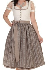 Dirndl Pillersee Cream and Taupe by Hammerschmid