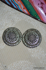 Dirndl Apron or Cape Clip Round Filligree