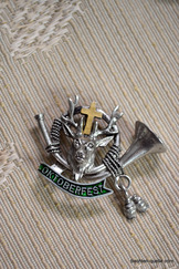 Hat or Lapel Pin Oktoberfest Horn with Deer