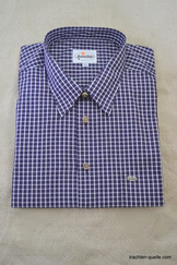 Men's Purple and White Check Shirt