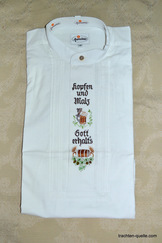 Men's Trachten Shirt with Brewery Theme Embroidery