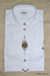 Men's Trachten Shirt White with Applique