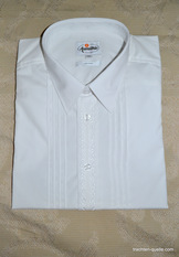Men's White Embroidered Trachten Dress Shirt