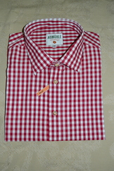 Men's Casual Shirt Red Check   Size XXL Slim Fit