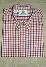 Men's Casual Shirt Red Multi Plaid