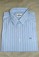 Men's Dress/Casual Shirt Navy and Blue Check Size XL