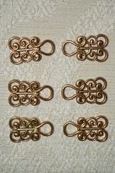 Dirndl Hooks Scroll Antique Gold Finish Budget Friendly (3 pair)