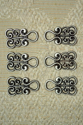 Dirndl Hooks Scroll Pewter Finish Budget Friendly (4pair)
