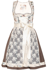 Dirndl Daja Cream Floral with Choco Brown