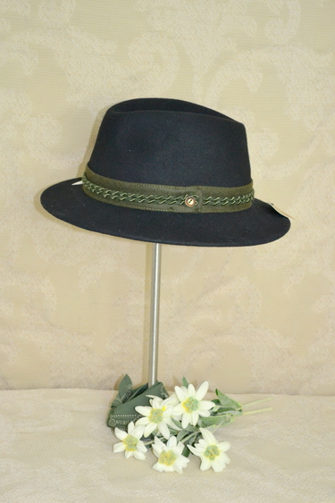 Hat Wide Brim Trachten with Green Band