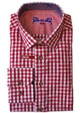 Men's Checkered Trachten Shirt Slim Fit