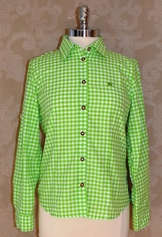 Ladies' Basics Blouse 2; Lime, or Forest Green; Sizes 4 - 24