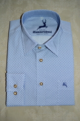 Men's Slim Fit Dress or Casual Shirt Blue Geometric Print