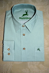 Men's Dress or Casual Shirt Green Geometric Print