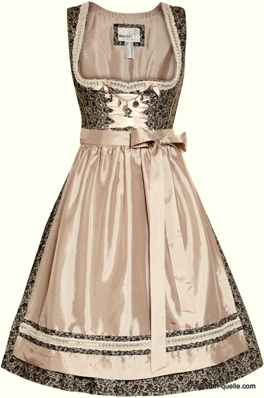 Dirndl Dafina by Marjo  Taupe and Black