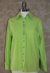 Ladies' Casual Blouse; Lime Green  Size 12 to 18
