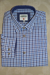Men's Casual/Trachten Shirt Blue Navy Check