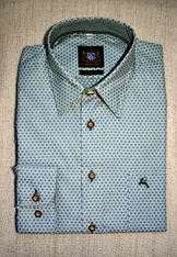Men's Upscale Casual Shirt Dot Print Dark Green