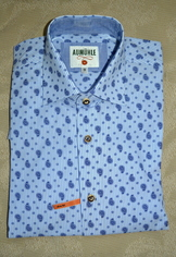 Men's Casual Shirt Blue Paisley