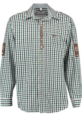 Men's Trachten Shirt Dark Green and Black Check