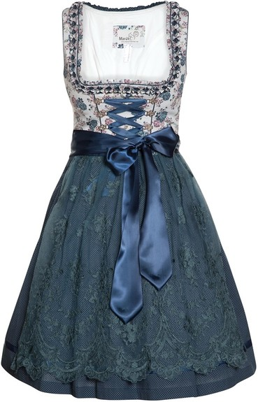 Dirndl Dagoba Teal Blue by Marjo