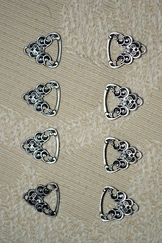Dirndl Hook Small Scroll Pewter Finish Set of 10