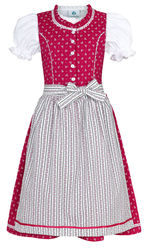 Girl's Infant Dirndl Red with Stripe Apron with Blouse