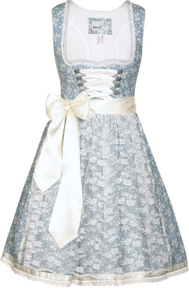 Dirndl Bakara Ice Blue with Creme Lace Apron