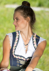 Dirndl Blouse with Cap Sleeve White