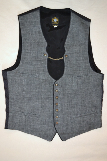 Men's Linen/Wool Vest Vinzenz Grey