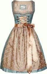 Dirndl Frieka Turquoise with Taupe Marjo
