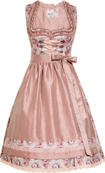 Dirndl Fancy Dove Grey Pink Floral