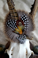 Hat Pin Radl with Pheasant Feathers