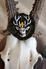 Hat Pin Fringed Radl with Hubertus Deer