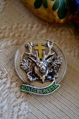 Oktoberfest Pin with Hubertus Deer
