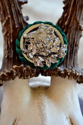 Hat or Lapel Pin Round Wild Boar Head