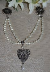 Ladies' Pearl Charivari with Heart